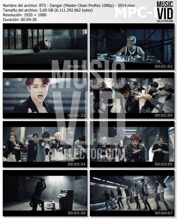 BTS – Danger (Master Clean ProRes 1080p) – 2014 – Music Vid